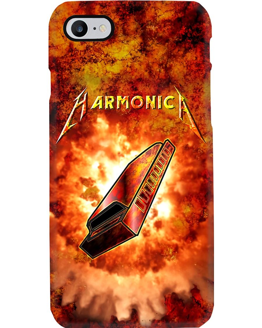 Harmonica On Flame  Phone Case