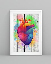 Colorful Heart Anatomy Canvas Cardiologist 11x17 Poster lifestyle-poster-5