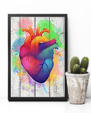 Colorful Heart Anatomy Canvas Cardiologist 11x17 Poster lifestyle-poster-8