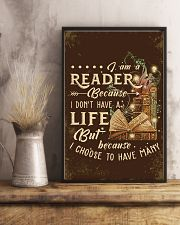 Librarian I Am A Reader 11x17 Poster lifestyle-poster-3