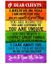 Social Worker Dear Clients Poster 11x17 Poster front