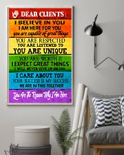 Social Worker Dear Clients Poster 11x17 Poster lifestyle-poster-1
