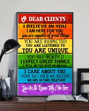 Social Worker Dear Clients Poster 11x17 Poster lifestyle-poster-2