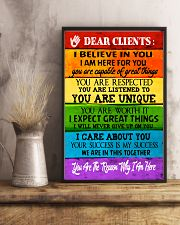 Social Worker Dear Clients Poster 11x17 Poster lifestyle-poster-3