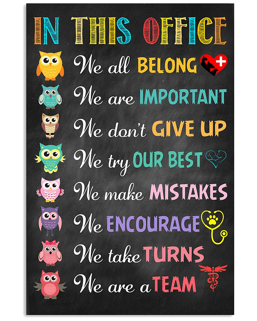 Veterinarian We are important We don't give up 11x17 Poster