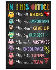 Veterinarian We are important We don't give up 11x17 Poster front