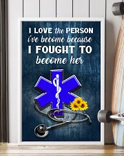 Paramedic I love the person I've become 11x17 Poster lifestyle-poster-4