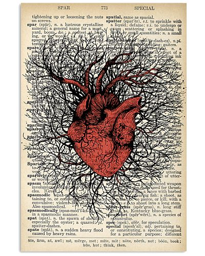 Anatomical Heart Vintage Background Cardiologist