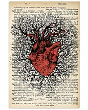Anatomical Heart Vintage Background Cardiologist 11x17 Poster front