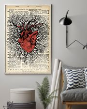 Anatomical Heart Vintage Background Cardiologist 11x17 Poster lifestyle-poster-1