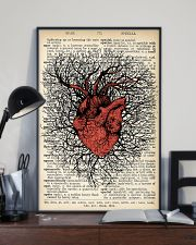 Anatomical Heart Vintage Background Cardiologist 11x17 Poster lifestyle-poster-2