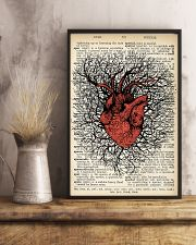Anatomical Heart Vintage Background Cardiologist 11x17 Poster lifestyle-poster-3