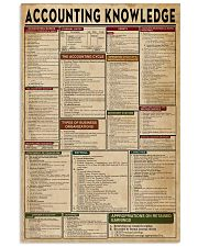 Accounting Knowledge 16x24 Poster front