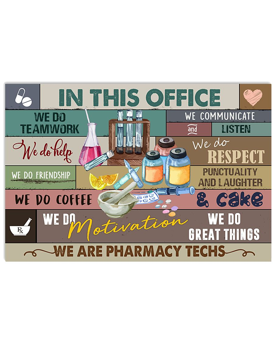 We are Pharmacy Techs Poster 17x11 Poster