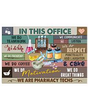 We are Pharmacy Techs Poster 17x11 Poster front