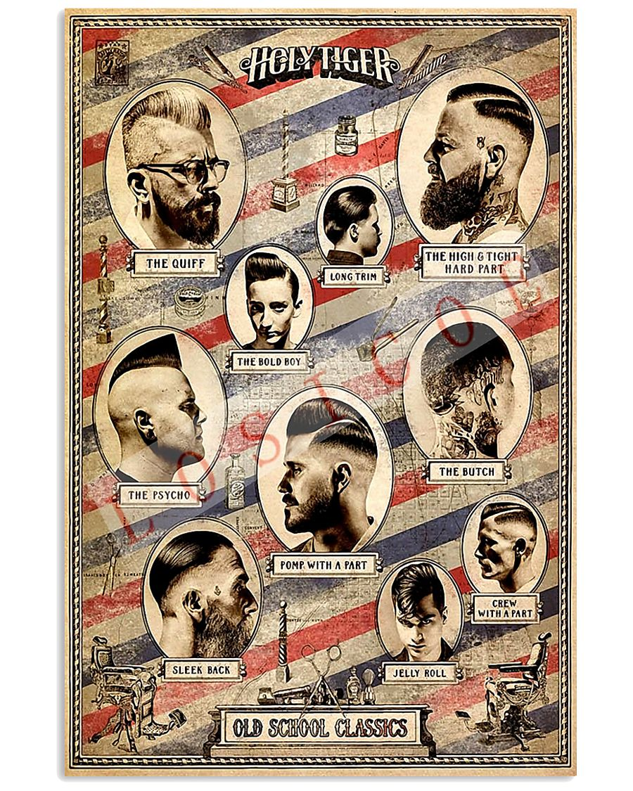 Holy Tiger Old School Classic Hairdresser 11x17 Poster
