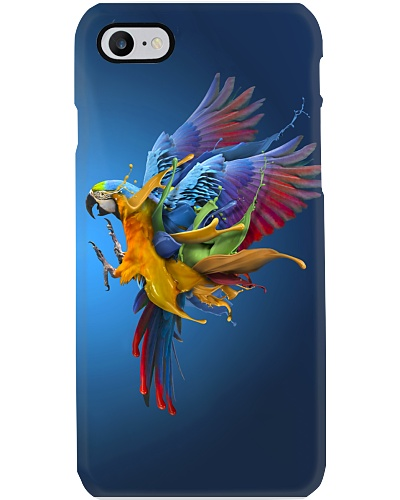 Parrot color water phonecase
