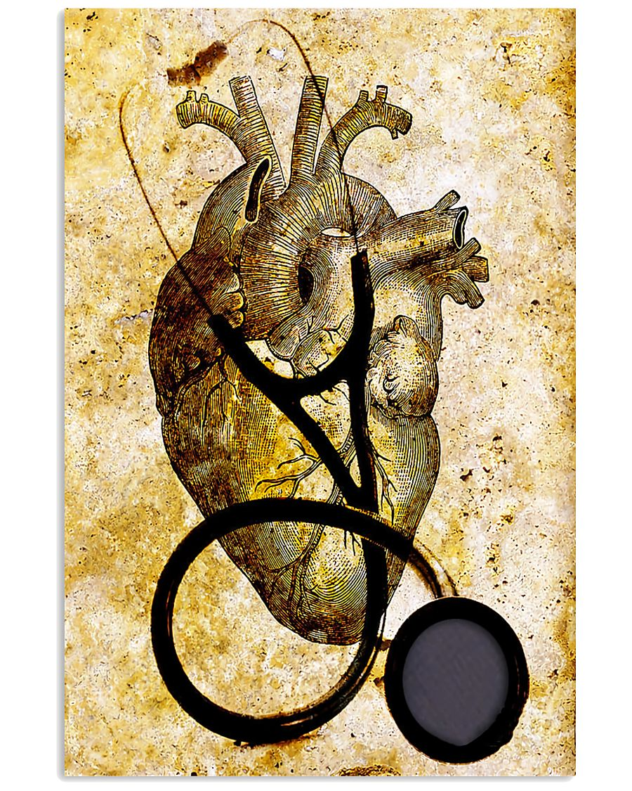 Cardiologist Heart And Stethoscope 11x17 Poster