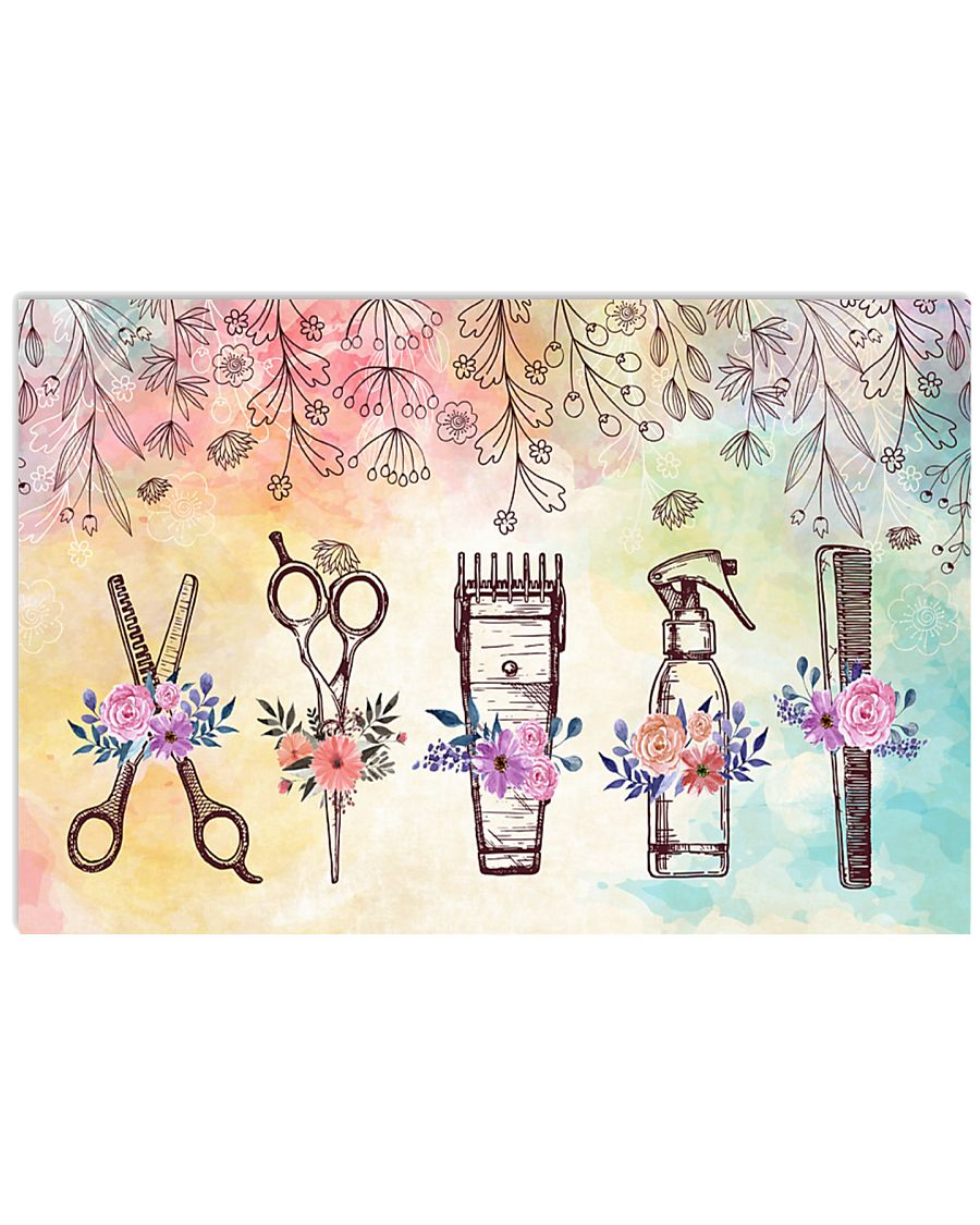 Beautiful Art Tools Hairdresser 24x16 Poster
