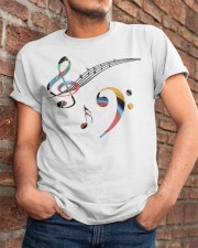 Contrabass Bass clef and treble Classic T-Shirt apparel-classic-tshirt-lifestyle-26
