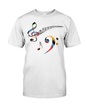 Contrabass Bass clef and treble Classic T-Shirt front