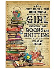 There Was A Girl Who Loved Books And Knitting 11x17 Poster front