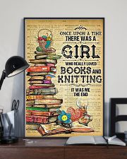 There Was A Girl Who Loved Books And Knitting 11x17 Poster lifestyle-poster-2