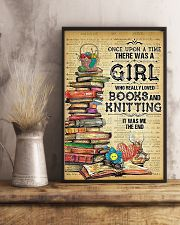 There Was A Girl Who Loved Books And Knitting 11x17 Poster lifestyle-poster-3