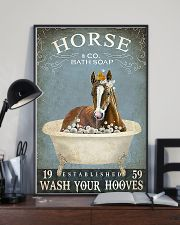 Horse Girl Horse Bath Soap Wash Your Hooves 11x17 Poster lifestyle-poster-2