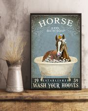 Horse Girl Horse Bath Soap Wash Your Hooves 11x17 Poster lifestyle-poster-3