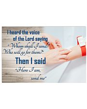 Phlebotomist - Heard the voice of the Lord saying 17x11 Poster front