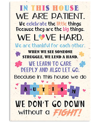 Autism Awareness In this house Poster