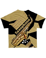 Saxophonist Gift Golden Saxophone  All-over T-Shirt back