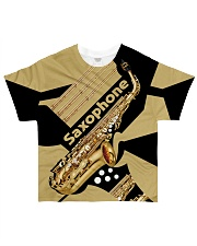 Saxophonist Gift Golden Saxophone  All-over T-Shirt front