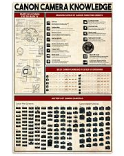 Photographer Canon Camera Knowledge 11x17 Poster front