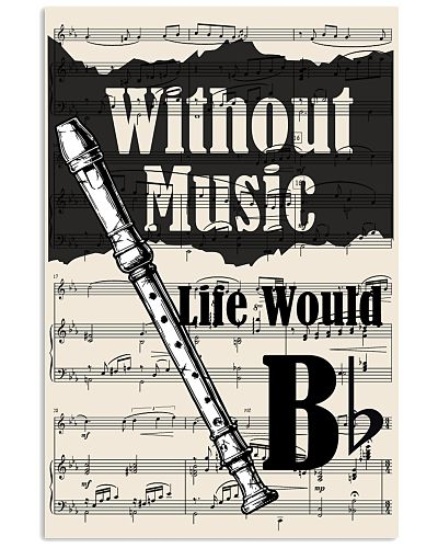 Recorder - Without music life would Bb