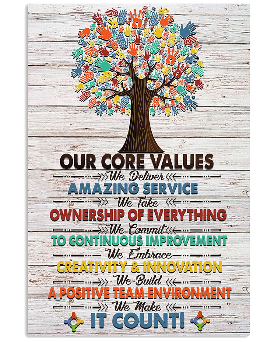 Social Worker Core Values Poster 11x17 Poster