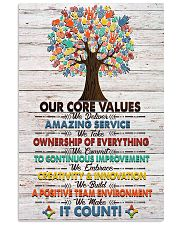Social Worker Core Values Poster 11x17 Poster front