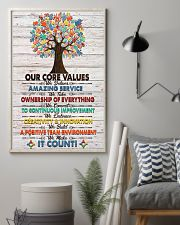 Social Worker Core Values Poster 11x17 Poster lifestyle-poster-1