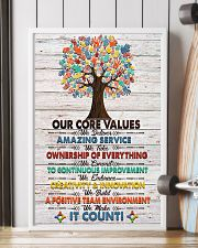 Social Worker Core Values Poster 11x17 Poster lifestyle-poster-4