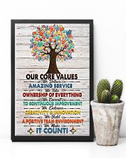 Social Worker Core Values Poster 11x17 Poster lifestyle-poster-8