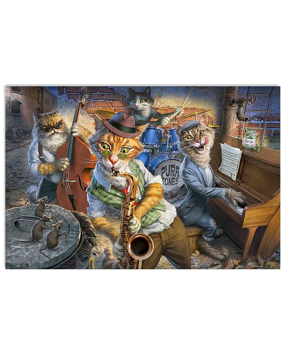 Saxophone Cat  17x11 Poster