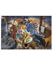 Saxophone Cat  17x11 Poster front