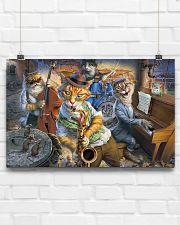 Saxophone Cat  17x11 Poster poster-landscape-17x11-lifestyle-17