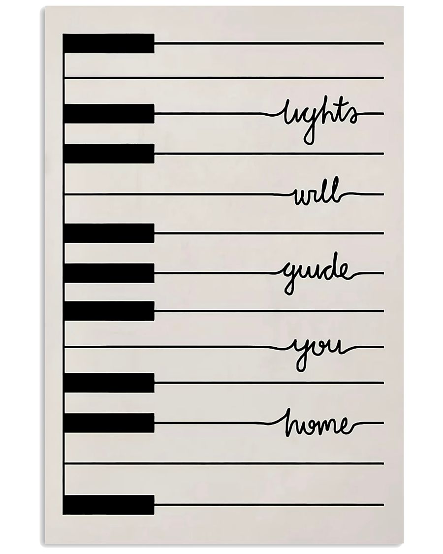 Pianist Light Will Guide You Home 11x17 Poster