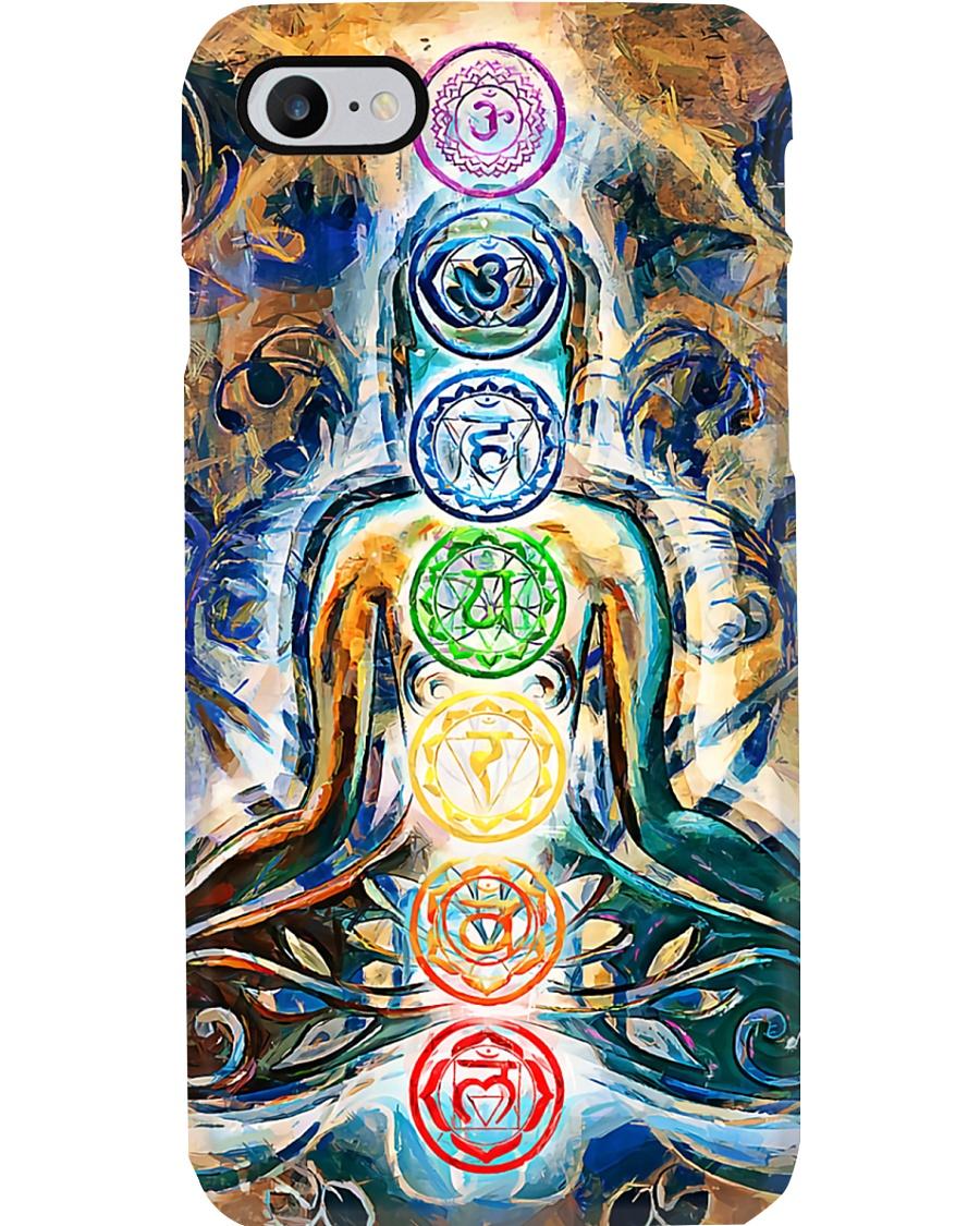 Yoga 7 Chakras Art  Phone Case