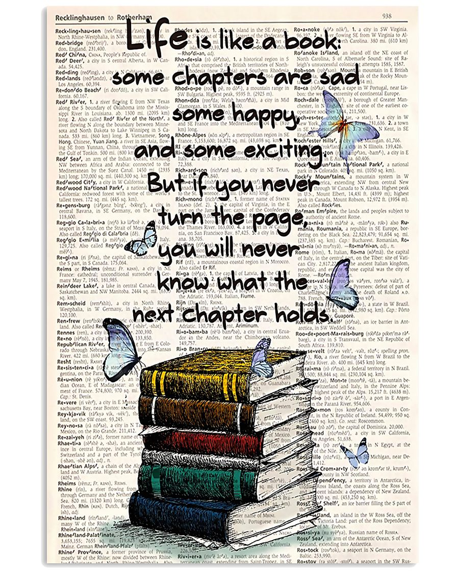 Life Is Like A Book 11x17 Poster