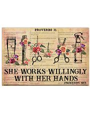 Hairstylist She Works Willingly With Her Hands 17x11 Poster front