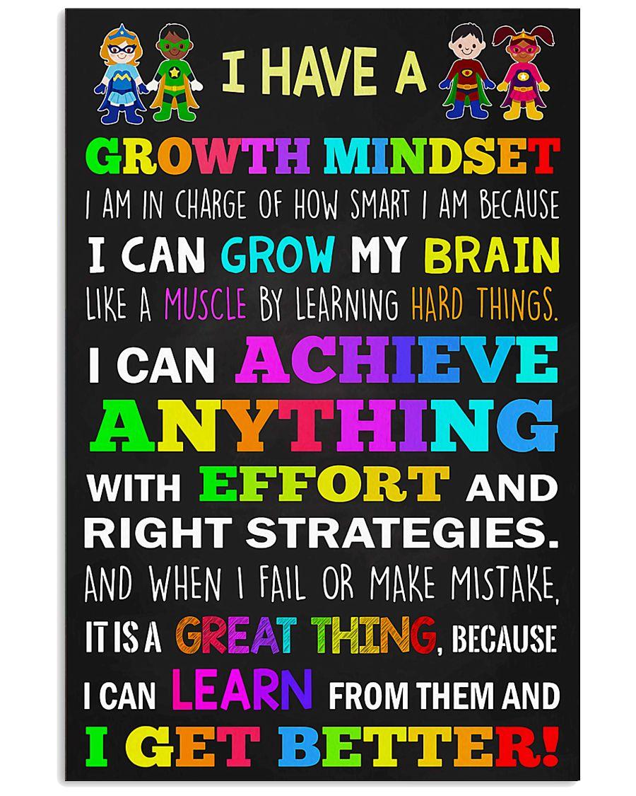 Teacher - I Have A Growth Mindset 11x17 Poster