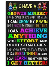 Teacher - I Have A Growth Mindset 11x17 Poster front